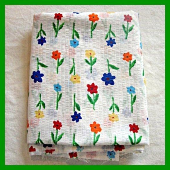 Vintage Office Fun Floral Seersucker Fabric 22 Yards Poshmark